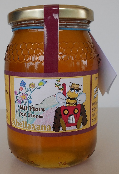 Miel cruda de Mil Flores 500 Gr. Artesanal.